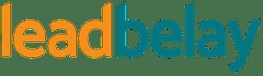 lead belay's teal & gold logo