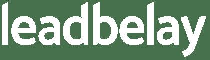 lead belay's white logo