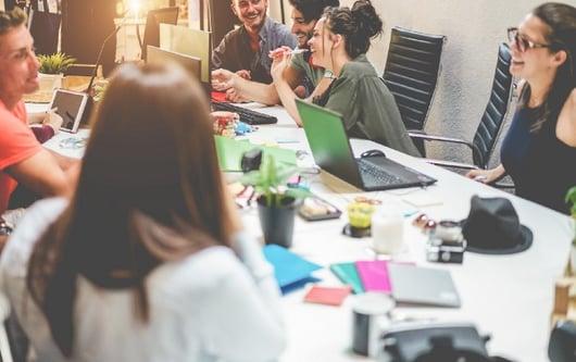 millennials collaborating at a business meeting